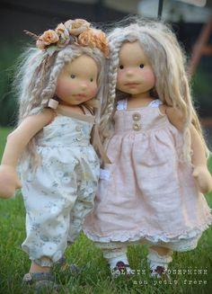 Handmade natural fiber dolls by Mon Petit Frère