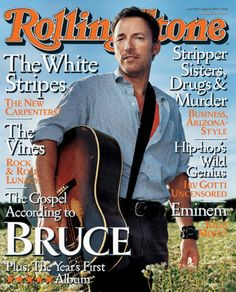 Bruce Springsteen on the cover of Rolling Stone magazine in August 2002.