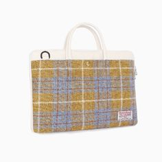 Sweetch slimbriefcase olive x Harris tweed