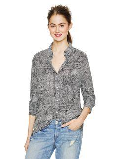 WILFRED FREE ROLLINSON BLOUSE - A feminine, drapey take on a boyfriend shirt featuring a custom dot print