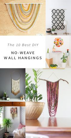 Check the way to make a special photo charms, and add it into your Pandora bracelets. The 10 easiest DIY wall hangings from around the web, no weaving required! Yarn Wall Hanging, Wall Hangings, Diy Wall Art, Diy Art, Crafty Craft, Crafting, My New Room, Fiber Art, Diy Home Decor