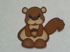 SQUIRREL  ANIMAL PAPER PIECING KIDS ANIMALS BY MY TEAR BEARS *KIRA* from My Tear Bears