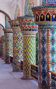 Amazing Persian Architecture and Persian Tiles, Mofakham Historical Monument, Birjand #IRAN