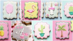 UNICORN, COTTON CANDY, FLAMINGO, PALM TREE COOKIES and more! Cookie Deco...