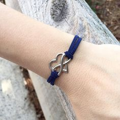 Adjustable Suede Leather Polyamory Bracelet by LoveInfinitelyGifts