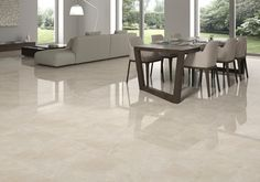 Grespania´s Palace Porcelain Tiles Series brings the elegance and effects of marble to any space. Available in models and formats, complemented with a wide range of decorative tiles, colors and finishes. Decor, Living Room Flooring, Flooring, Floor Tile Design, Living Room Tiles, Porcelain Tile, Home Decor, Tile Floor Living Room, Porceline Tile Floor