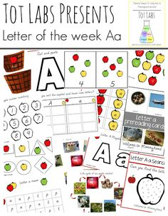 Tot Labs Presents: Letter of the Week Letter A by Welcome to Mommyhood #montessori, #preschoolactivities, #handsonlearning,…