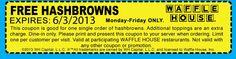 FREEbie: Waffle House Hashbrowns!