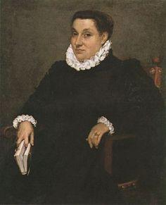 Ritratto di dama con libro, 1570 ca. -  Giovanni Battista Moroni - olio su tela - 99x81 cm - Legato Guglielmo Lochis, Bergamo, Accademia Carrara