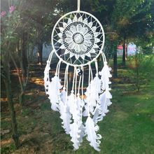 Artistic 14*40CM Dream Catcher Home Decor, blue Feather Dreamcatcher Wind Chimes Indian Style Mascot Car or Wall Decoration(China (Mainland))