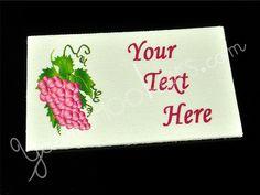 Grape Vine - Iron on / Sew In - 100% Cotton Fabric Labels (White), $11
