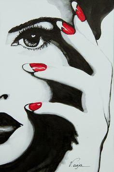 New ideas eye crying watercolor Mosaic Portrait, Portrait Art, Black And White Drawing, White Art, 3 Canvas Paintings, Art Optical, Halloween Nail Art, Arte Pop, Heart Art