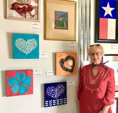Barbara B. Loyd with some of her Romantic Art at our Gallery