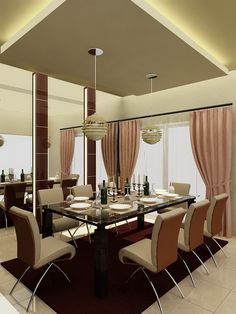 Interior Dining Room Gorgeous Modern Interior Dining Room Design Ideas Adorable Black Glossy With