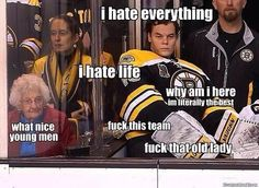 Tuukka Rask is tired of your shit and is better than you #Bruins #Humor