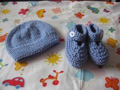 Items similar to Baby Booties lilac months) on Etsy Baby Booties, Knits, Lilac, Knitted Hats, Beanie, Booty, Knitting, Trending Outfits, Unique Jewelry