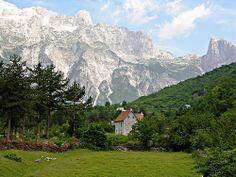 Farmhouse & the Accursed Mountains, Thethi Village, Albania |