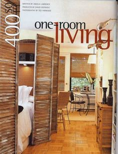 We remembered seeing this studio apartment on HGTV a few years ago, so when we spotted these scans on Lisa's blog Small Space Style, we had to share.  Back in 2003, Canadian Style at Home magazine featured this 400 square foot studio that made one room living seem not only doable, but also done in a comfortable style that doesn't feel claustrophobic. More photos of the space along with the floorplan after the jump...