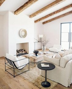 A dash of rustic to this modern home. Touch Of Gold, Weathered Wood, White Furniture, Rustic Chic, Dining Bench, Beach House, This Is Us, Luxury, Interior