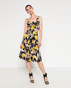 Image 1 of PRINTED POPLIN TOP from Zara