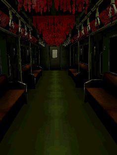 Subway or Tram Gif Arte Horror, Horror Art, Favelas Brazil, Arte 8 Bits, Pixel Art Background, Anime Gifs, Arte Robot, Pixel Animation, 8 Bit Art