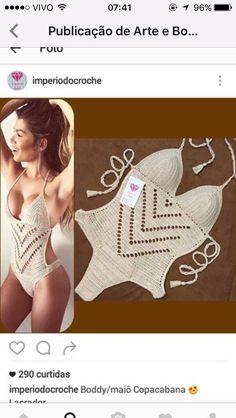70 Super Ideas For Crochet Bikini Pattern Monokini Crochet Lingerie, Crochet Bra, Crochet Bikini Pattern, Crochet Clothes, Crochet Monokini, Swimsuit Pattern, Crochet Bathing Suits, Crochet Mobile, Crochet One Piece