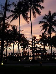 Sunset at katathani phuket beach resort