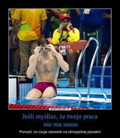 Lifeguard at Olympic swimming events Funny Animal Photos, Funny Animals, Funny Pictures, Michael Phelps, Waterpolo, Swimming Memes, Nbc Olympics, Summer Olympics, Olympic Swimming