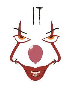 Pennywise the Clown Stencil - Bing Halloween Stencils, Halloween Tags, Halloween 2019, Halloween Pumpkins, Fall Halloween, Halloween Crafts, Halloween Party, Manualidades Halloween, Adornos Halloween