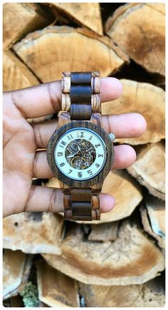 Men's Wood Watch Dover Zebrawood & Dark Sandalwood - Mechanical Keeping it natural Big Watches, Sport Watches, Luxury Watches, Cool Watches, Watches For Men, Casual Watches, Patek Philippe, Audemars Piguet, Rolex