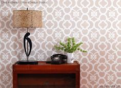 Stencil ideas for allover floral patterns with Chez Ali Moroccan Stencil