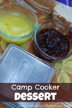 Camp Cooker Dessert: get the Coleman cookers. Butter 2 slices of white bread. Put in pie filling, sandwich spread, marshmallows, etc. Turns into a pie-like dessert. Best Camping Meals, Camping Menu, Backpacking Food, Camping Foods, Camping Ideas, Camping 101, Kayak Camping, Ultralight Backpacking, Winter Camping
