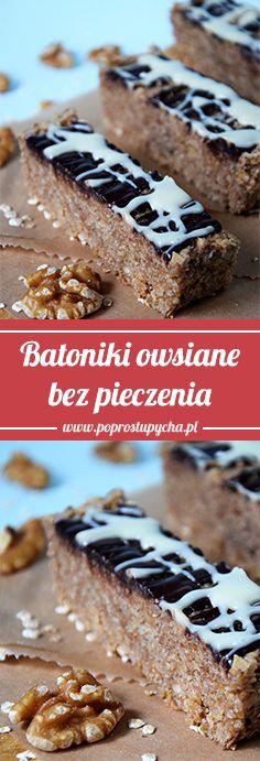Najlepsze batoniki owsiane (bez pieczenia) :) z czekoladą, orzechami, wiórkami kokosowymi! Przepis krok po kroku: http://poprostupycha.com.pl/batoniki-owsiane-bez-pieczenia/ Film: https://www.youtube.com/watch?v=arKrEpatNZA