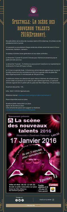 Spectacle: La scène des nouveaux talents 2016(Epernay).