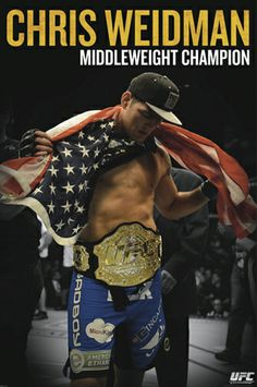 """UFC Middleweight Champion Chris """"All-American"""" Weidman"""