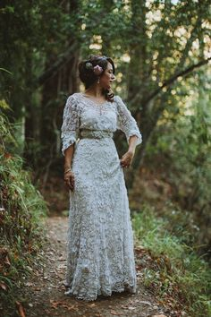 A Vintage Edwardian Crochet Dress For A Californian Wedding in the Woods http://www.brittanyesther.com/