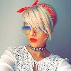 Flawless accessories on this beautiful pixie girl! She is @abojaa ✂️❤️✂️❤️✂️❤️#pixiepalooza