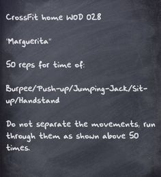 CrossFit home WOD