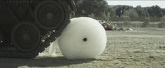 This tank driving over an entire roll of bubble wrap will go down as the most satisfying thing ever: