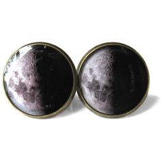 Half Moon Stud Earrings - Pastel Goth Soft Grunge Pop Culture Jewelry... ($10) ❤ liked on Polyvore featuring jewelry, earrings, nickel free jewelry, goth earrings, stud earrings, clear stud earrings and hippie earrings