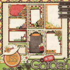 In The Garden Digital Scrapbook Kit Journal by JssScrapBoutique, $2.99