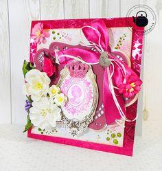 Inspiracja dla Kartkowego ABC - A jak Amarant  #scrapbooking, #card, #kartka, #prezent, #gift, #handmade, #rękodzieło, #craft, #girl, #baby, #birthday, #butterfly, #flowers, #malowanyimbryczek, #pink, #amarant