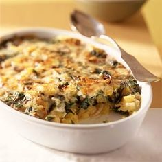 Scalloped Pumpkin and Spinach | MyRecipes.com #MyPlate #vegetable