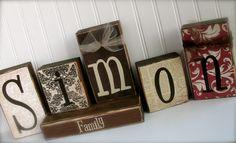 Family Name Blocks... Customize to match your decor