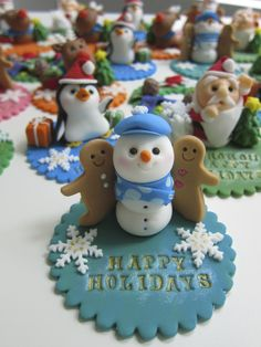 Holidays Cake Toppers by mimicafe Union http://mimicafeunion.blogspot.com