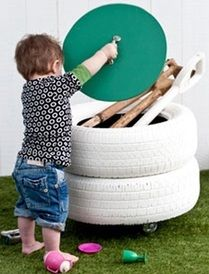 Organize My Toys - great idea for outdoor toy organization..... Denae needs this