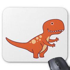 Tyrannosaurus Rex Mouse Pad Custom office supplies #business #logo #branding