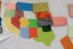 While Wearing Heels: The United Scraps of America Free Quilt pattern idea with all U.S. states