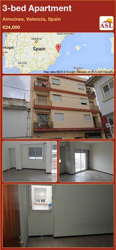 3-bed Apartment in Almoines, Valencia, Spain ►€24,000 #PropertyForSaleInSpain