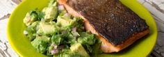Pan-seared Salmon with Avacado Salsa